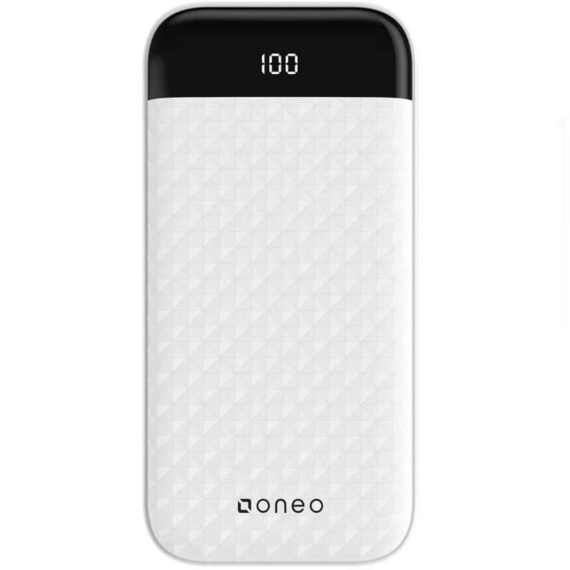 oneo 20,000mAh USB-C Portable Power Bank - White