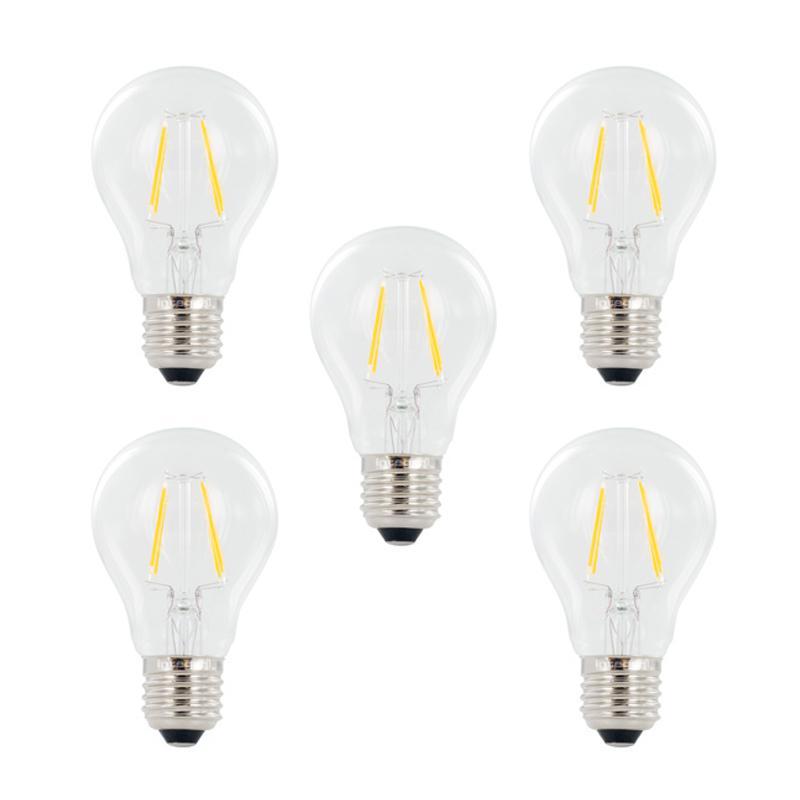 Integral GLS LED Full Glass Bulb E27 4W (40W) 2700K Non-Dimmable Lamp - 5 Pack
