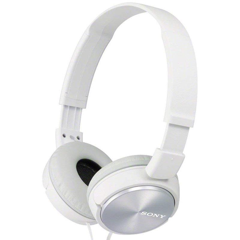 Sony MDR-ZX310 Foldable Headphones - Metallic White