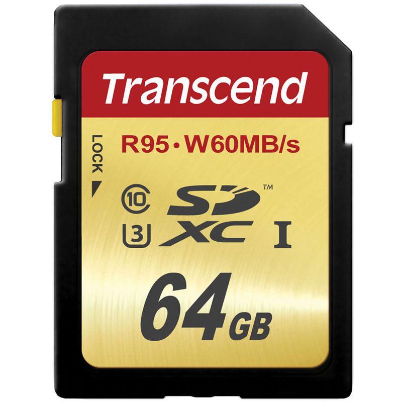 Transcend  64GB Ultimate SD Card (SDXC) UHS-I U3 - 95MB/s