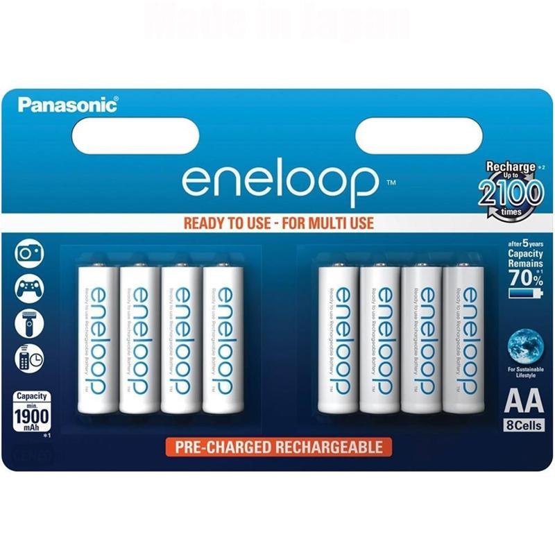 Panasonic Eneloop 1900mAh AA Rechargeable Batteries - 8 Pack