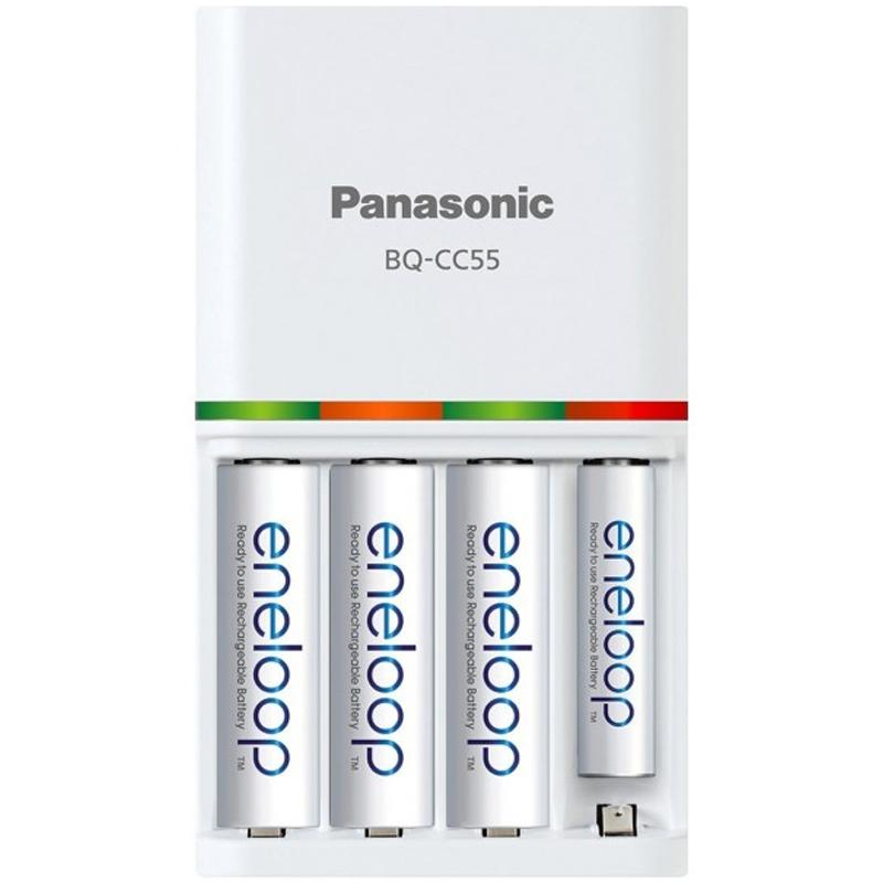 Panasonic Eneloop Smart & Quick Charger + 4 AA x 1900 mAh Rechargeable Batteries