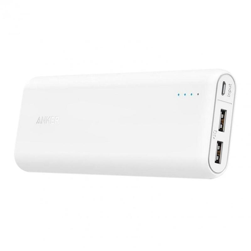 Anker PowerCore 4.8A 15600mAh Portable Power Bank with PowerIQ - White