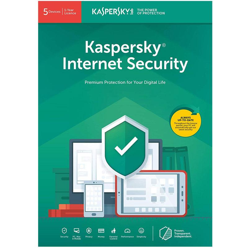 Kaspersky Internet Security 2021 (5 Devices, 1 Year)