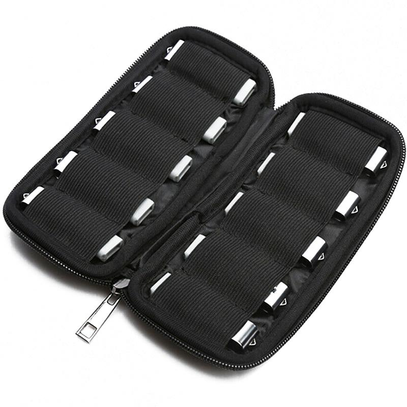 MyMemory USB Flash Drive Storage Case - 10 Capacity - Black