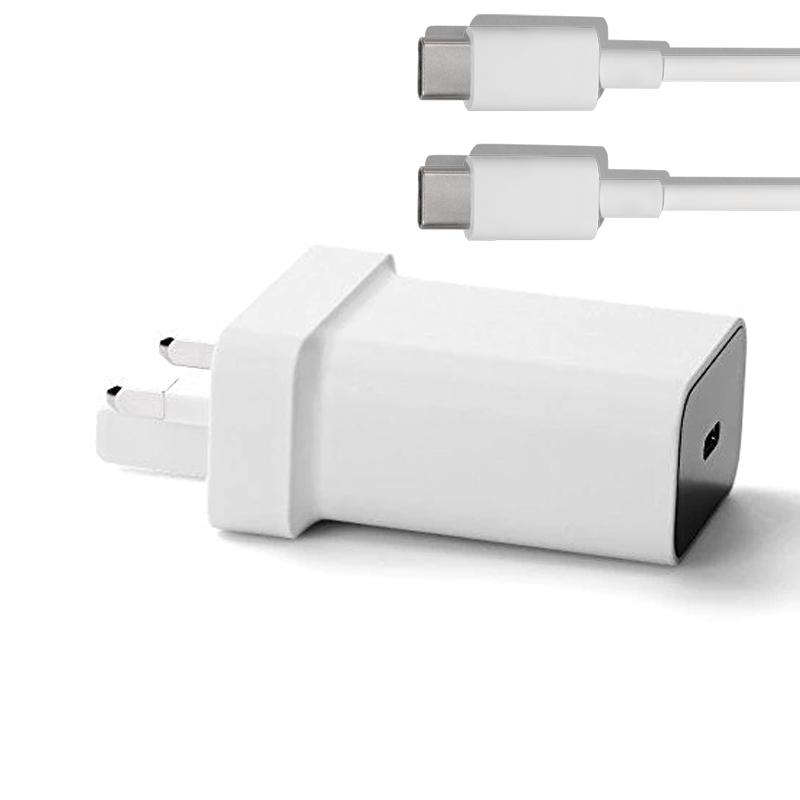 Google 3A USB-C Adapter + 1 Metre USB-C Cable - White