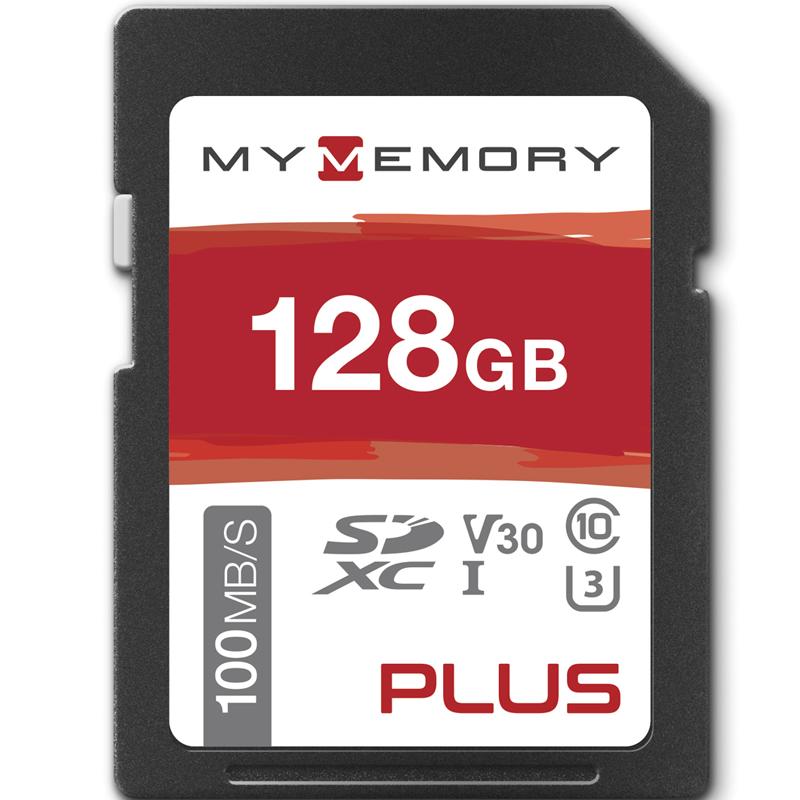 MyMemory PLUS 128GB V30 High Speed SD Card (SDXC) UHS-1 U3 - 100MB/s