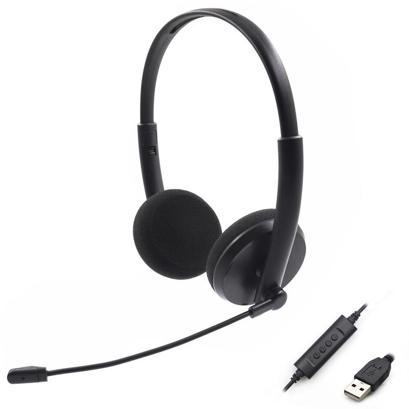 PC Noise Reduction Lightweight Computer Headset for Skype, MS team, ZOOM, Webinar, PC - Black