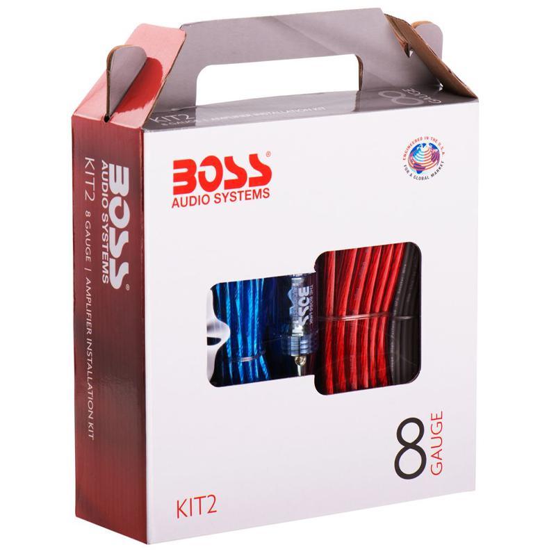 BOSS Audio KIT-2 8 Gauge Amplifier Installation Wiring Kit