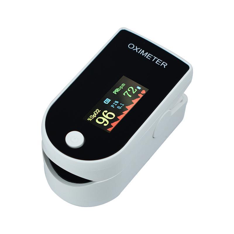 Bluetooth Finger Clip Pulse Oximeter & Blood Oxygen Saturation Meter - White