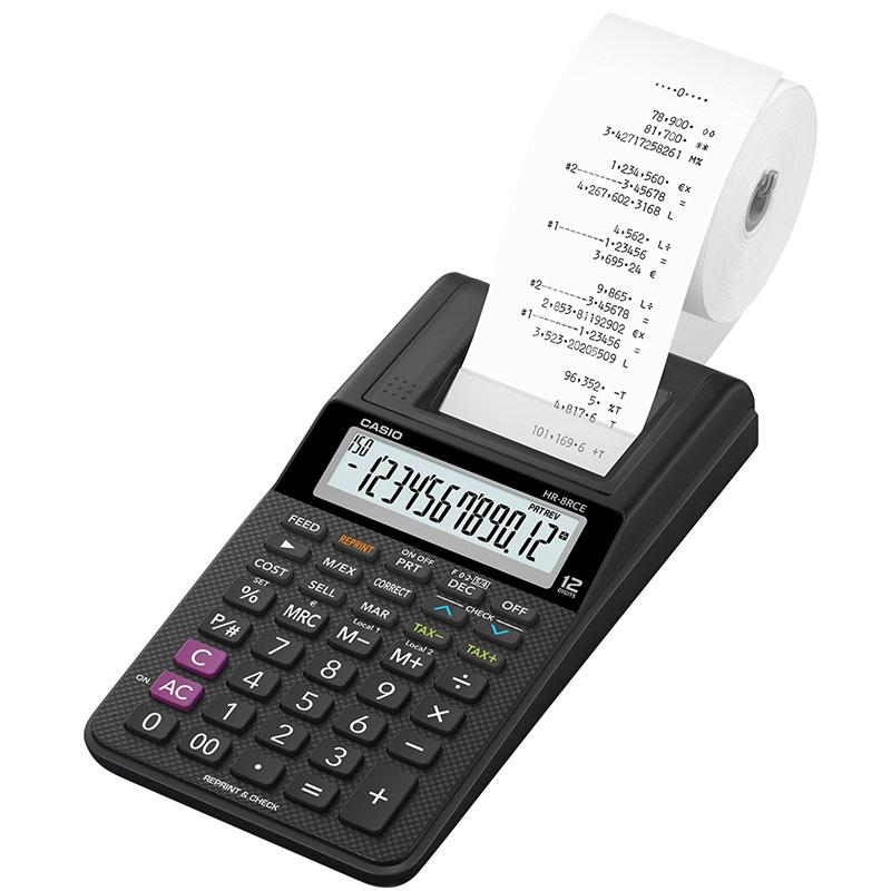 Casio Compact 12 Digit Display Printing Calculator