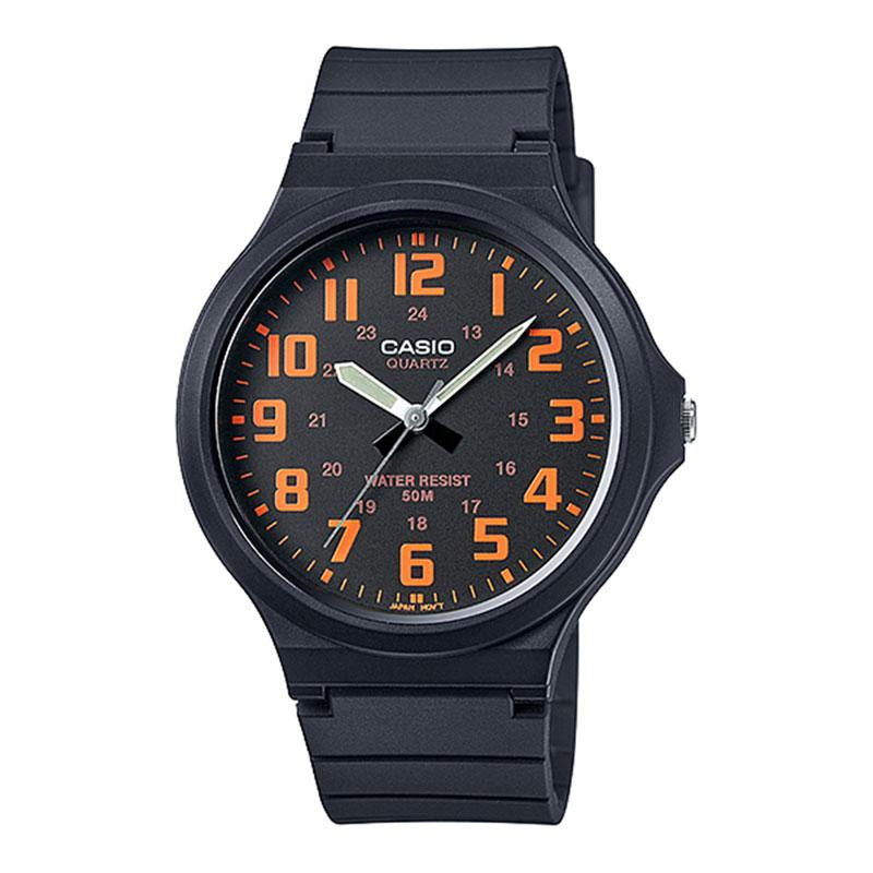Casio Mens Analogue Watch with Resin Strap - Black