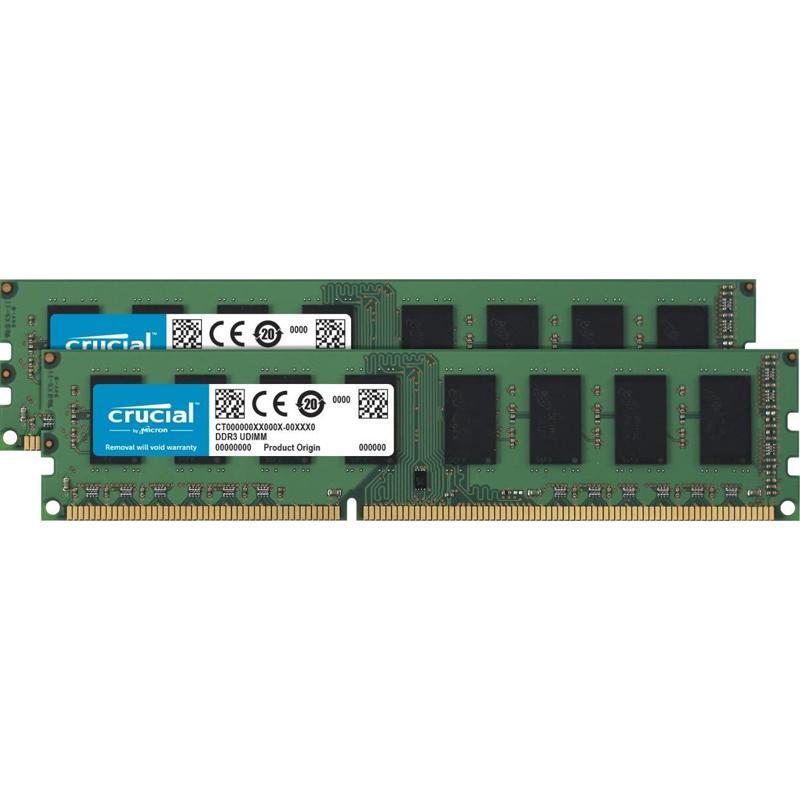 Crucial 16GB (2 x 8GB) 1600MHz DDR3L 240-Pin Non-ECC CL11 DIMM PC Memory Module