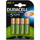 Duracell StayCharged Ultra 2400mAh AA Rechargeable Batteries - 4 Pack