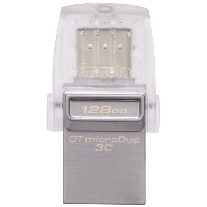 Kingston 128GB DataTraveler Micro Duo 3C USB / USB-C 3.1 Flash Drive - 100MB/s