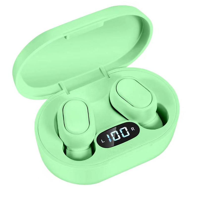 E7S TWS Wireless Earphones Bluetooth 5.0 EDR + Charging Case - Mint