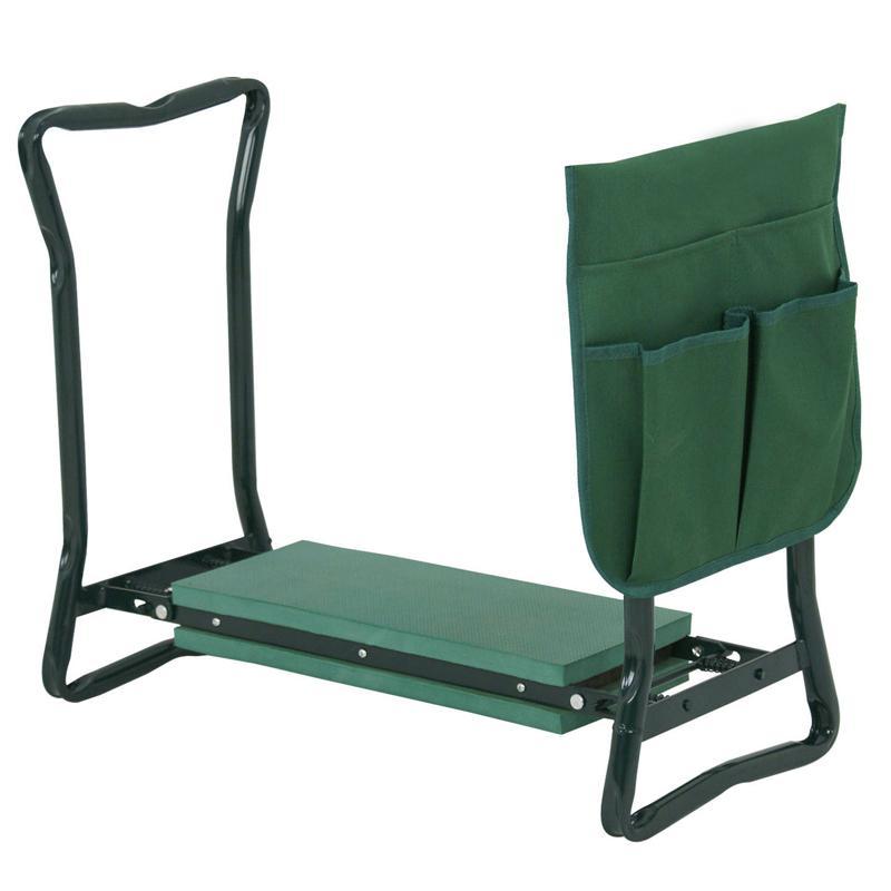 Foldable Garden Bench Kneeler with Tool Bag