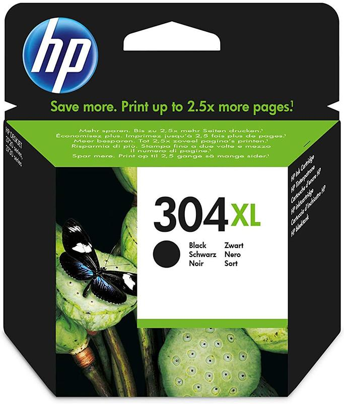 HP 304XL Original Black Ink Cartridge (N9K08AE) - Single Pack