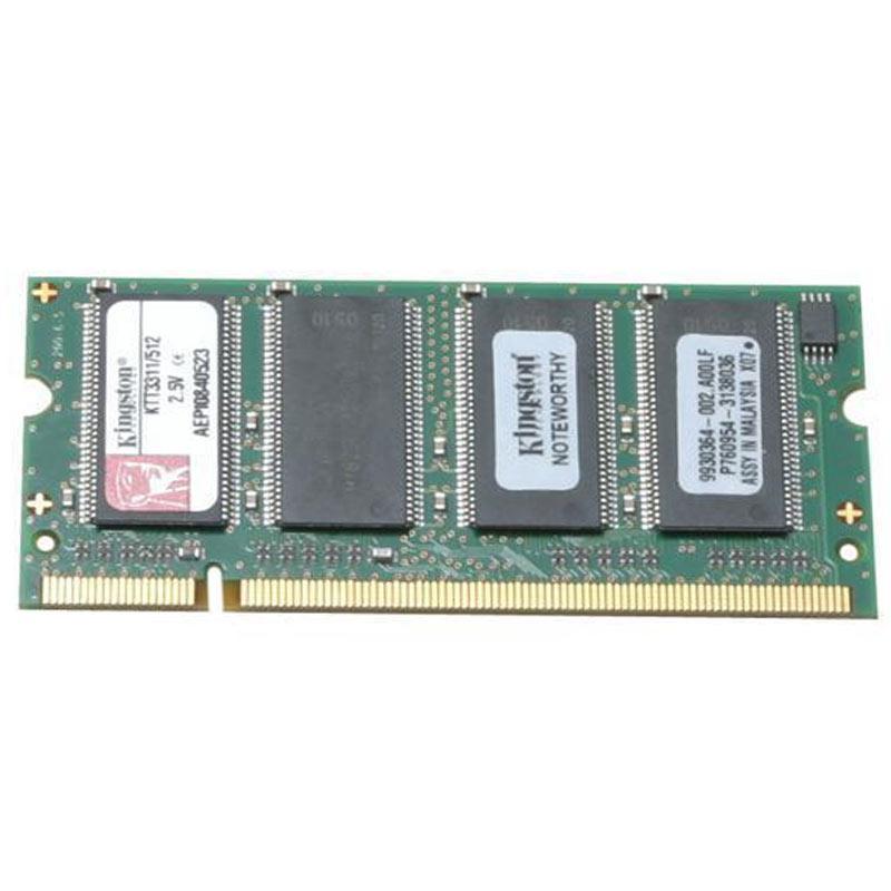 Kingston 512MB 333MHz DDR Non-ECC 200-Pin CL2 SODIMM Laptop Memory