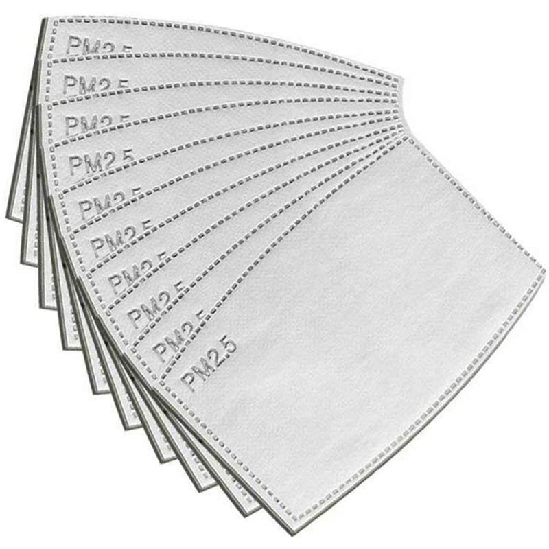 PM2.5 Replacement Filters for Face Masks - 50 Pack
