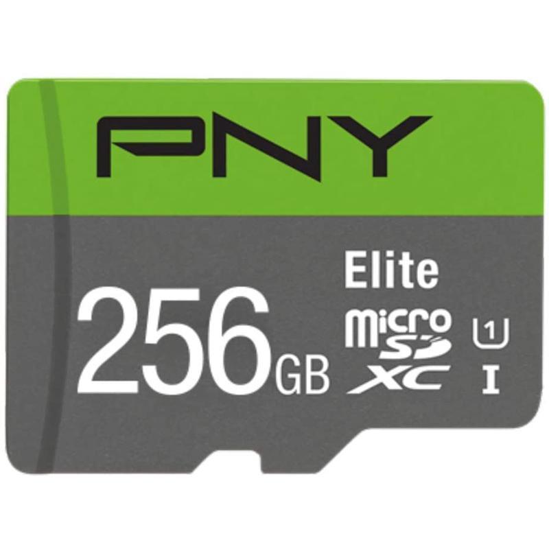 PNY 256GB Elite Micro SD (SDXC) Card UHS-1, U1 A1 - 100MB/s