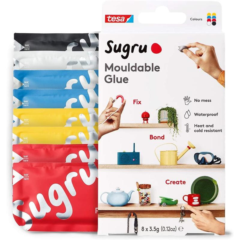 Sugru Mouldable Glue Classic Colours - 8 Pack