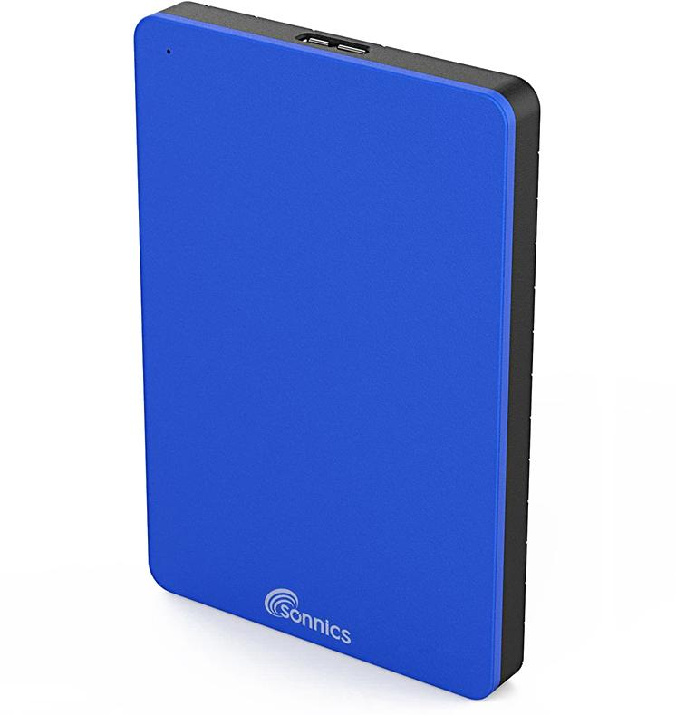 Sonnics 500GB External Portable Hard Drive USB 3.0 - Blue