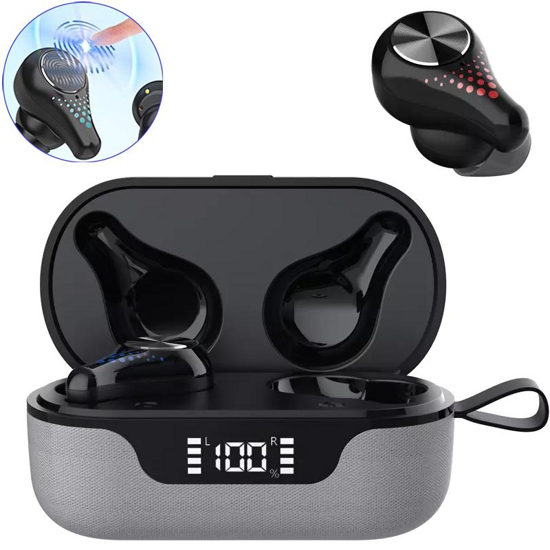 Super T8 TWS Wireless Earphones Bluetooth 5.0 with Charging Case - Cool Silver