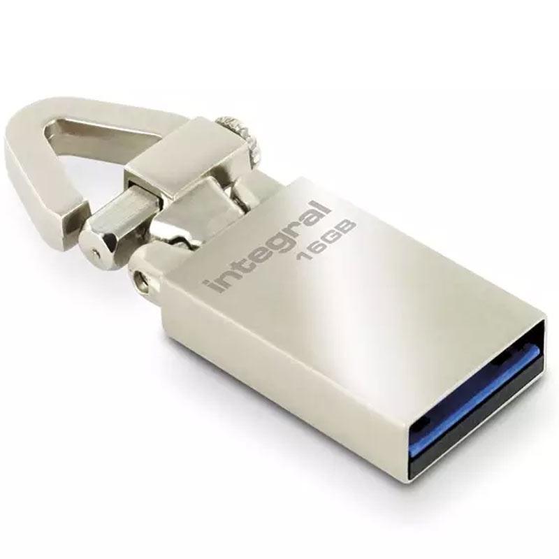 Integral 16GB Tag USB 3.0 Flash Drive - 120Mb/s