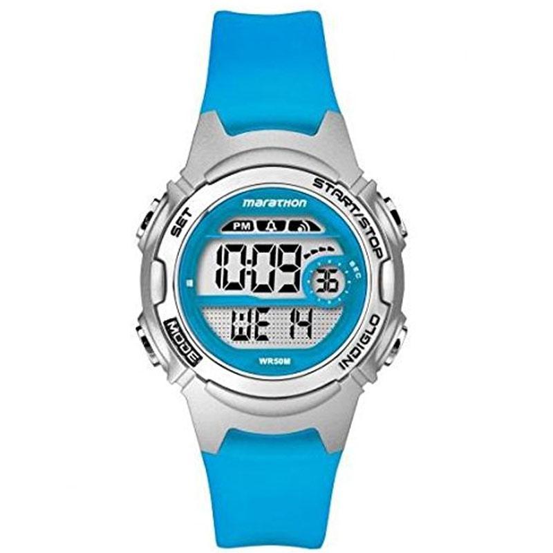 Timex Childrens Marathon Watch with Blue Resin Strap