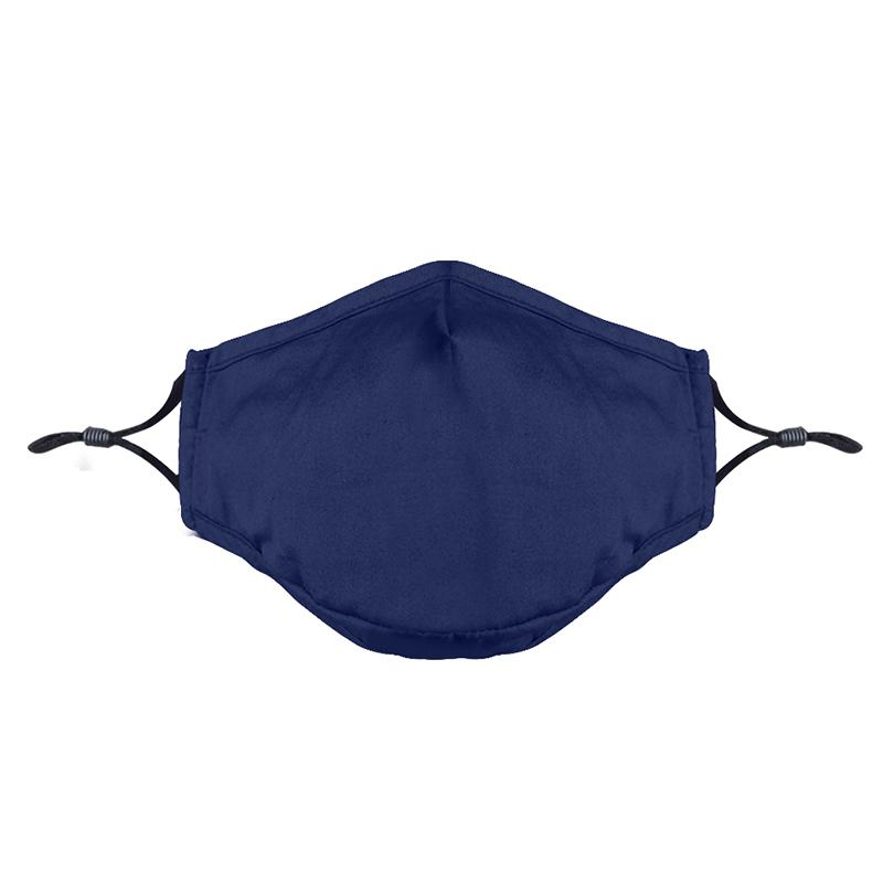 Washable Fashion Face Mask - Holds PM2.5 Filter - Dark Blue