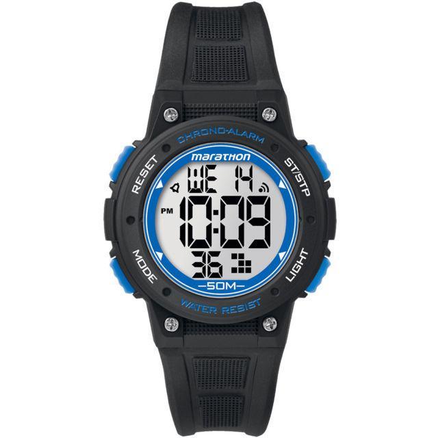 Timex Digital Mid Marathon Black Chronograph Watch (TW5K84800)