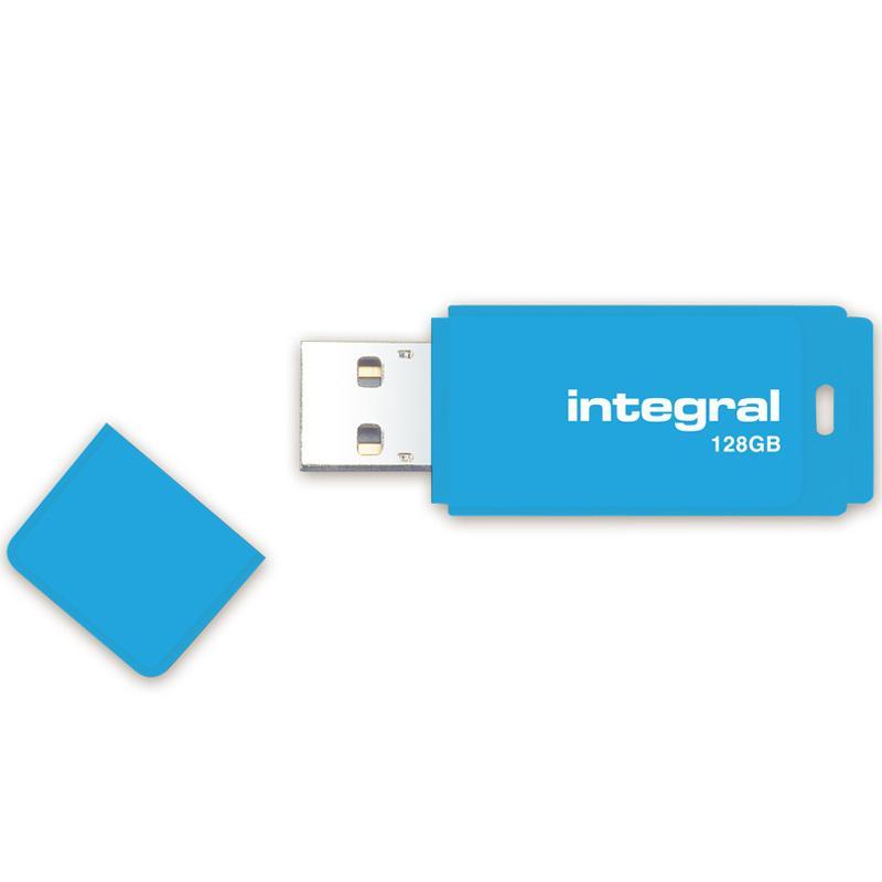 Integral 128GB Neon USB Flash Drive - 12Mb/s - Blue