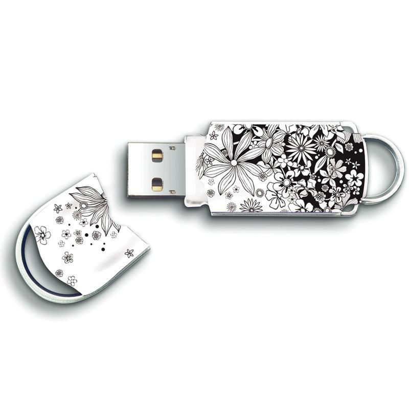Integral 64GB Xpression USB Flash Drive - Flowers