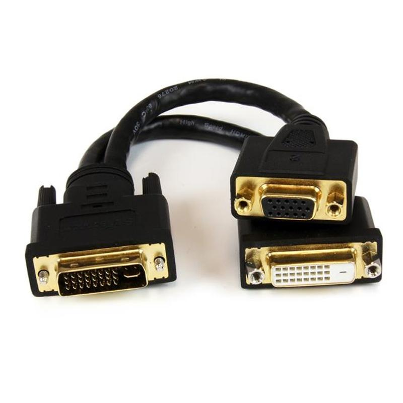 StarTech DVI-I Male to DVI-D Female + DVI Wyse Splitter Cable