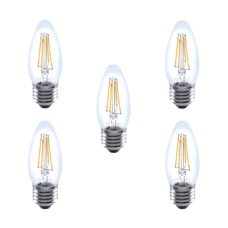 Integral LED Glaskolben E27 4W (40W) 2700K Nicht-Dimmbare Lampe - 5er Pack