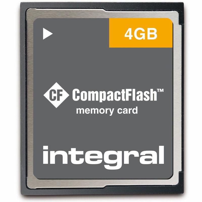 Integrierte 4GB Compact Flash Karte