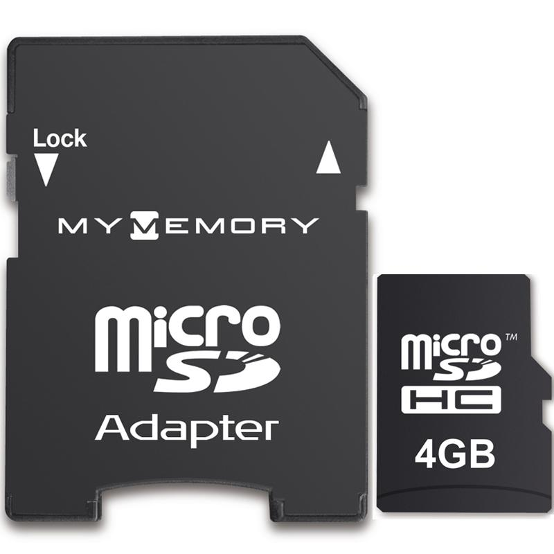 MyMemory 4GB Micro SD Karte (SDHC) + Adapter