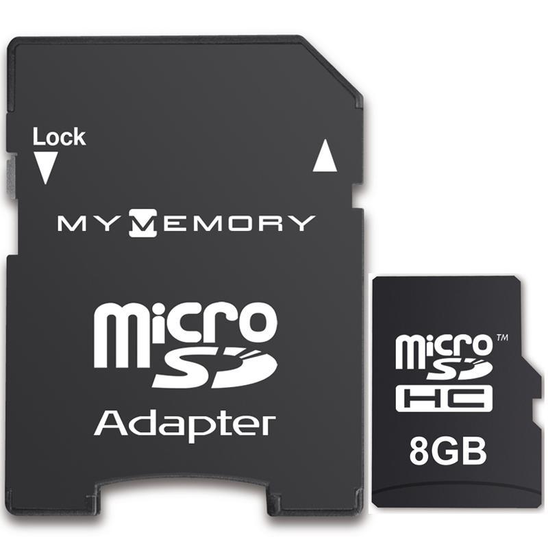 MyMemory 8GB Micro SD Karte (SDHC) + Adapter