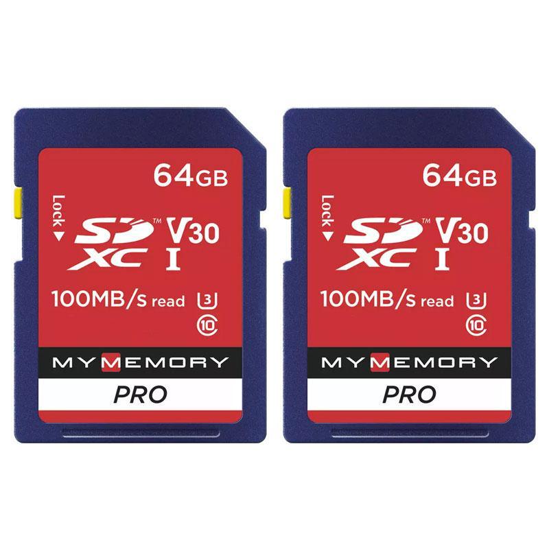MyMemory 64GB V30 PRO Micro SD Karte (SDXC) UHS-1 U3 - 2er Pack - 100MB/s