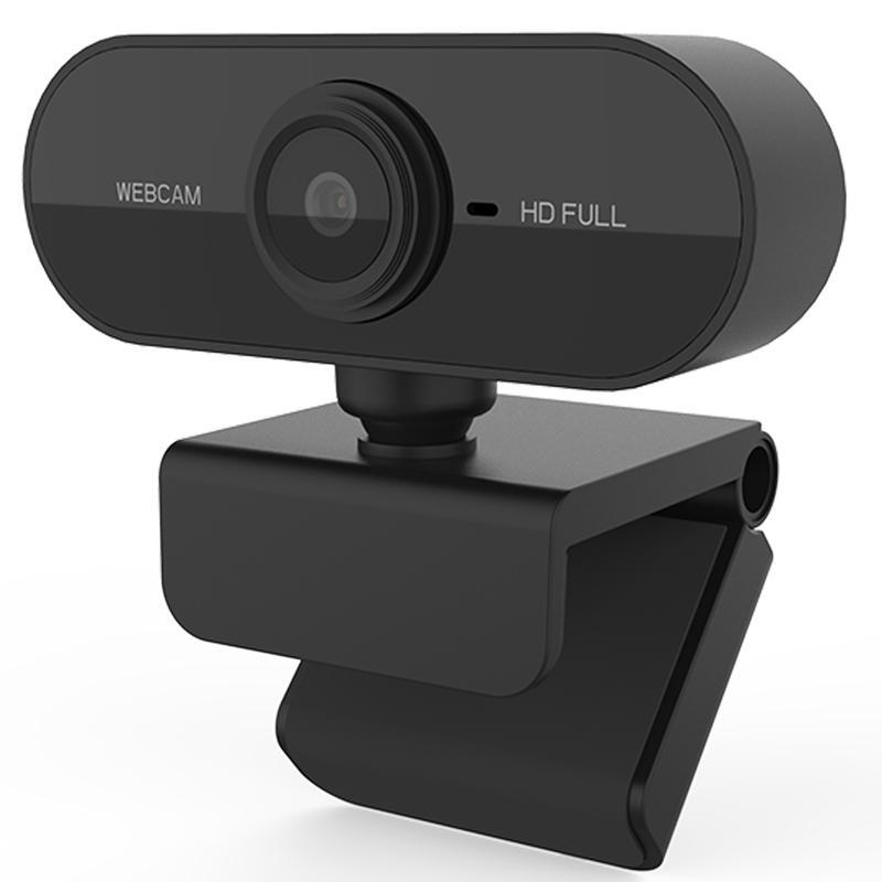 Full HD USB Plug & Play Webcam - Schwarz