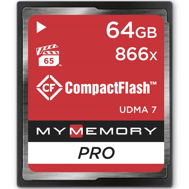 MyMemory 64GB PRO 866X Compact Flash Karte - 130MB/s