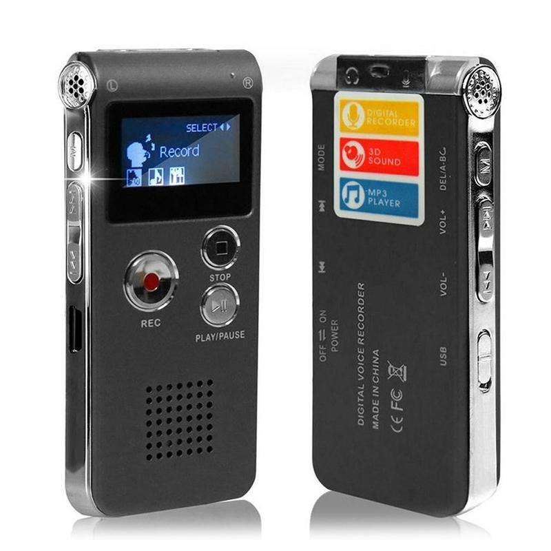 Multifunktionaler Digitaler Sprachrekorder Wiederaufladbar mit MP3-Player