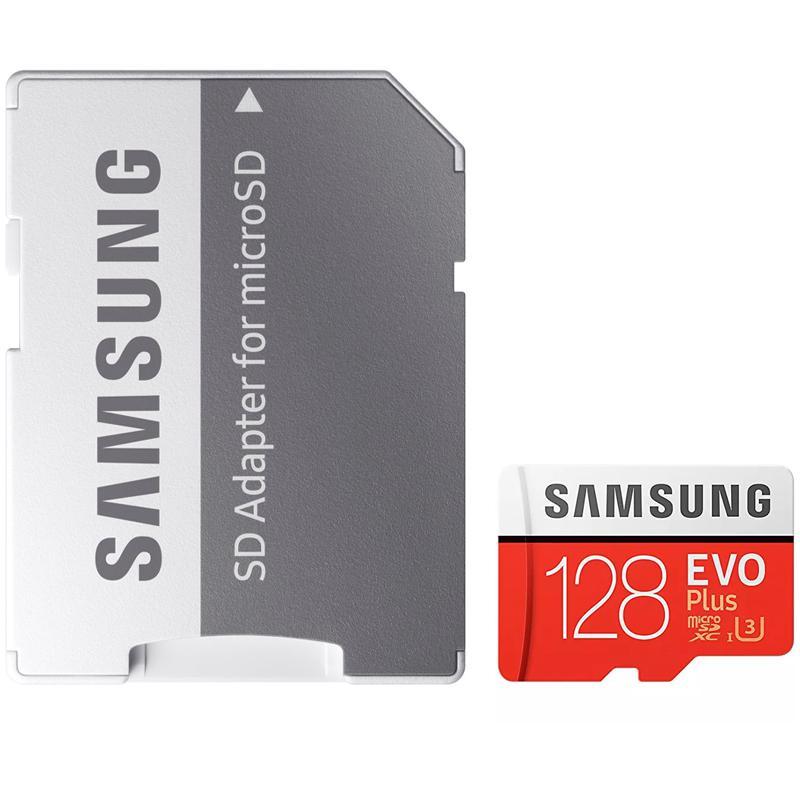 Samsung 128GB Evo Plus Micro SD Card (SDXC) UHS-I U3 + Adapter - 100MB/s