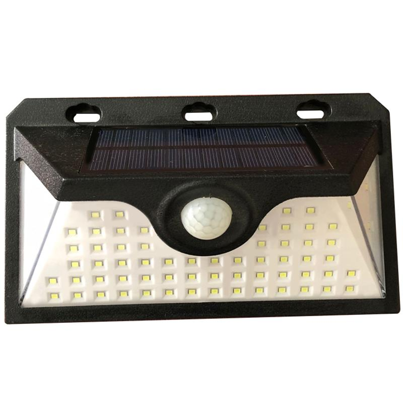 66 LED Outdoor Waterproof Motion Sensor - Solar Recharged Security Multi Mode LED Wall Light