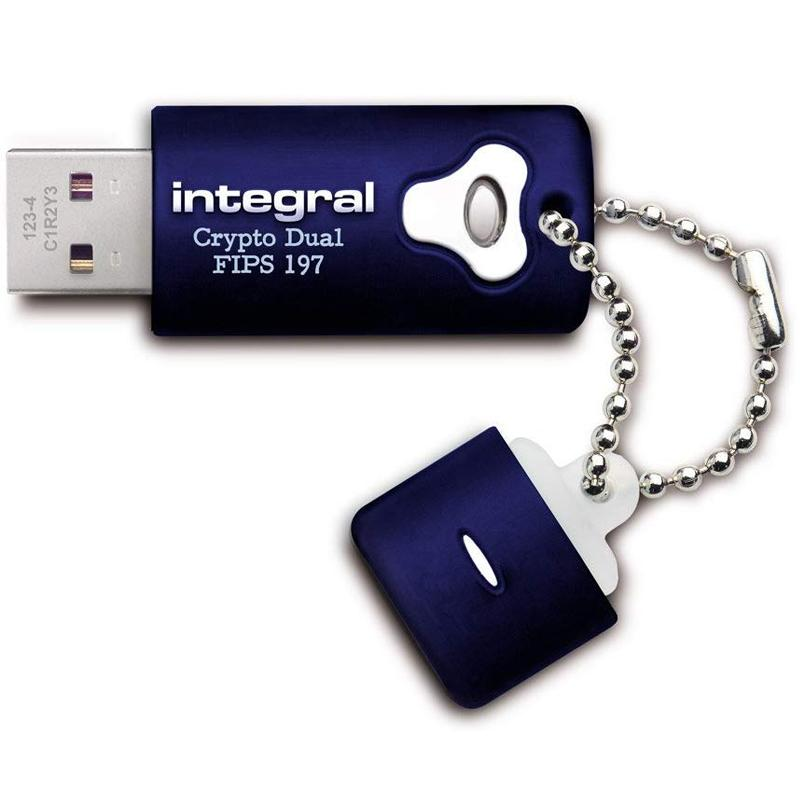 Integral 8GB Crypto Dual FIPS 197 Encrypted USB 3.0 Flash Drive - 120MB/s