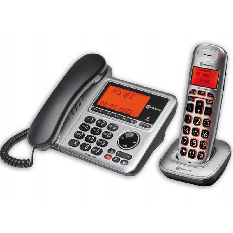 Amplicomms BigTel 1480 Combo Set with Answering Machine