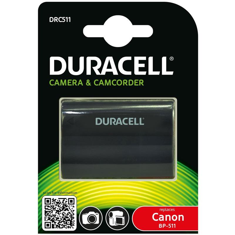 Duracell Canon BP-511, BP-511A, BP-512, BP-513, BP-514, BP508 Camera Battery