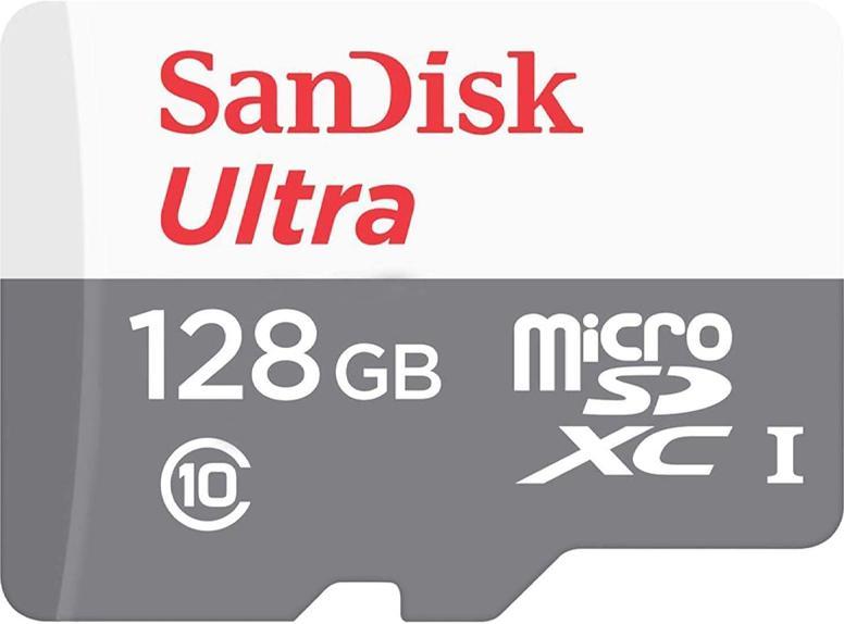 SanDisk 128GB Ultra Micro SD Card (SDXC) UHS-I - 80MB/s