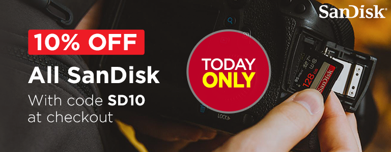 10% Off All SanDisk with Code SD10 at Checkout